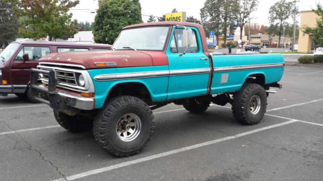 Awe Inspiring 1972 Ford F250 4X4 Highboy Truck Classic Ford F 250 19720000 For Sale Wiring Cloud Rometaidewilluminateatxorg