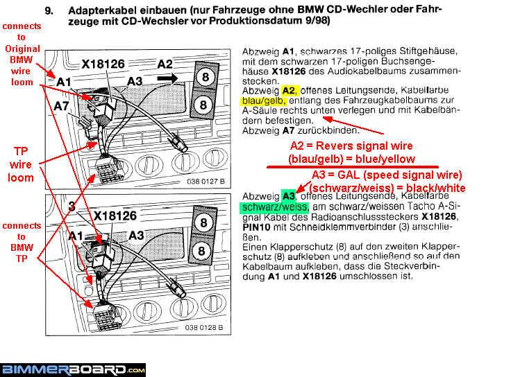 E38 Radio Wiring Diagram