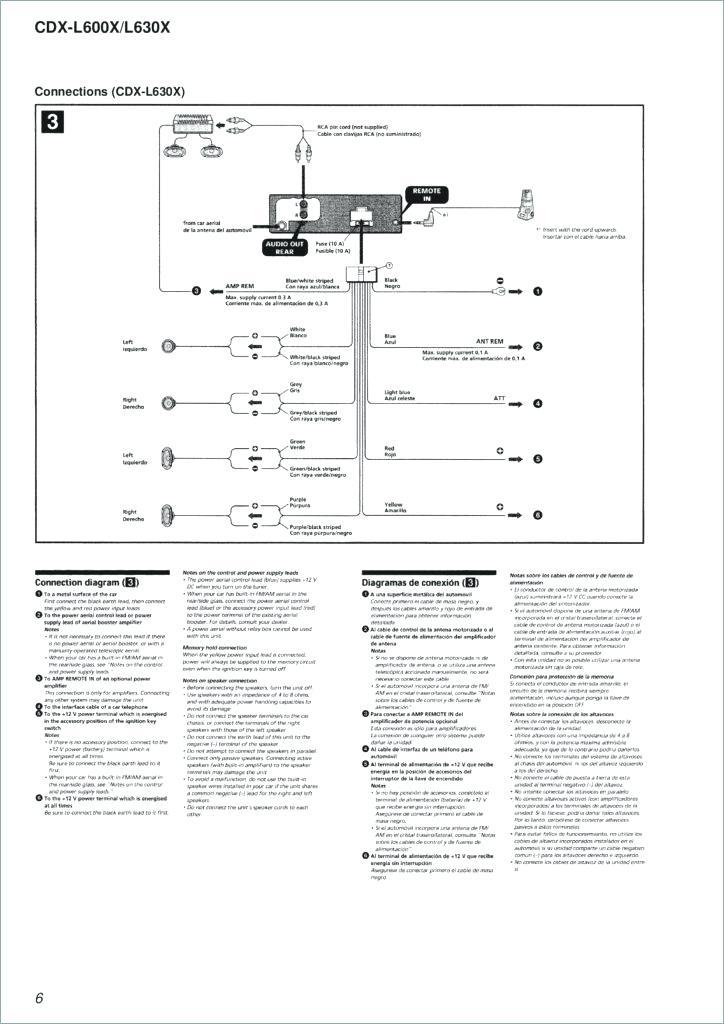Sony Cdx L600x Wiring Diagram