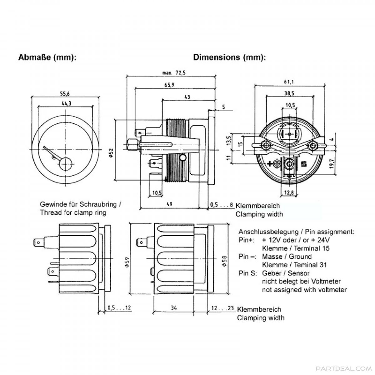 Vdo Voltmeter Wiring Data Wiring Diagram