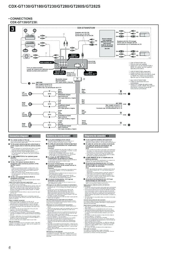 Sony Cdx Gt56uiw Wiring Diagram