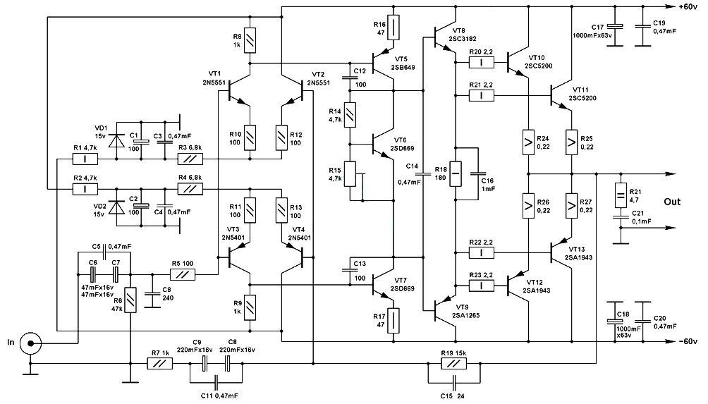 Amplifier Circuit Diagrams 1000w Dell Charger Wiring Diagram Fisher Wire Ford8n Waystar Fr