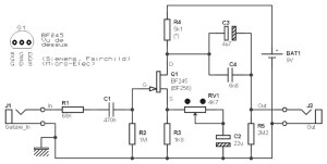 Brilliant Guitar Pre Amp Based On An Fet Bf245 And Bf256 Amplifier Circuit Wiring Cloud Staixaidewilluminateatxorg