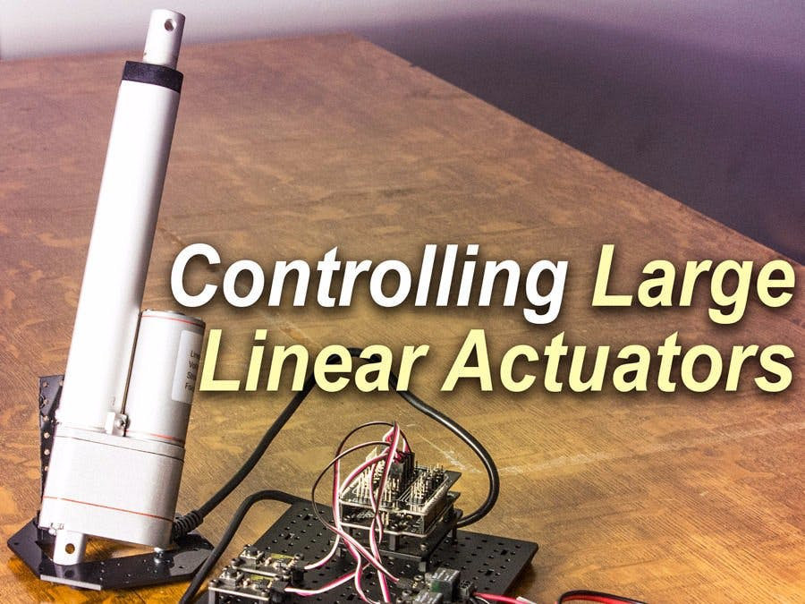 Wondrous Control A Large Linear Actuator With Arduino Hackster Io Wiring Cloud Grayisramohammedshrineorg