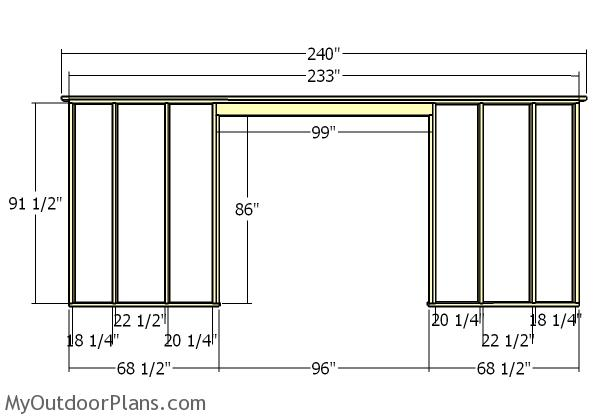 Astounding 20X20 Shed Plans Myoutdoorplans Free Woodworking Plans And Wiring Cloud Faunaidewilluminateatxorg