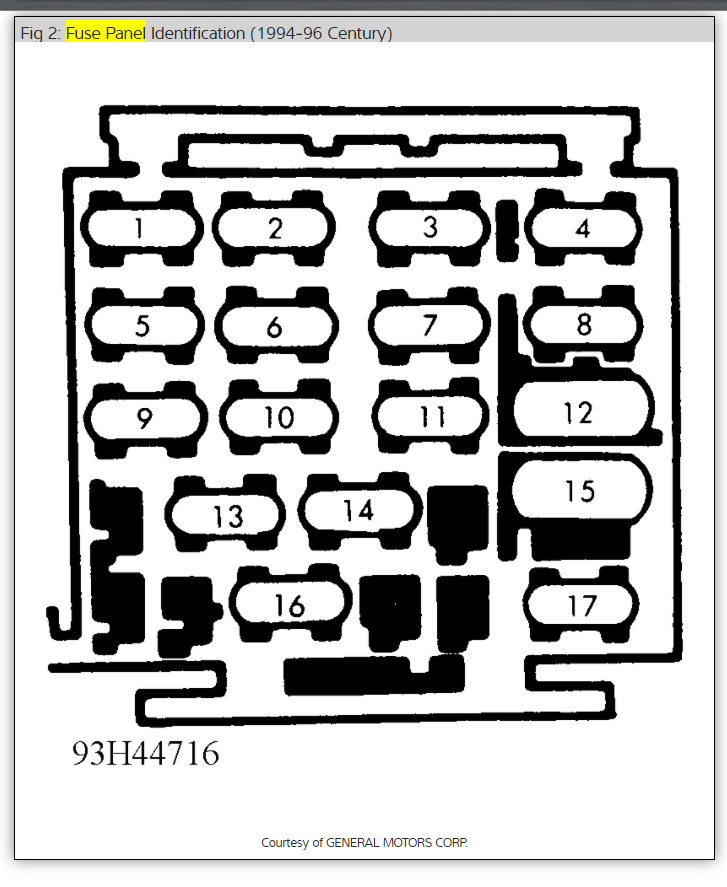 Buick Fuse Box Problem - Under Dash Fuse Relay Box for Wiring Diagram  SchematicsWiring Diagram Schematics