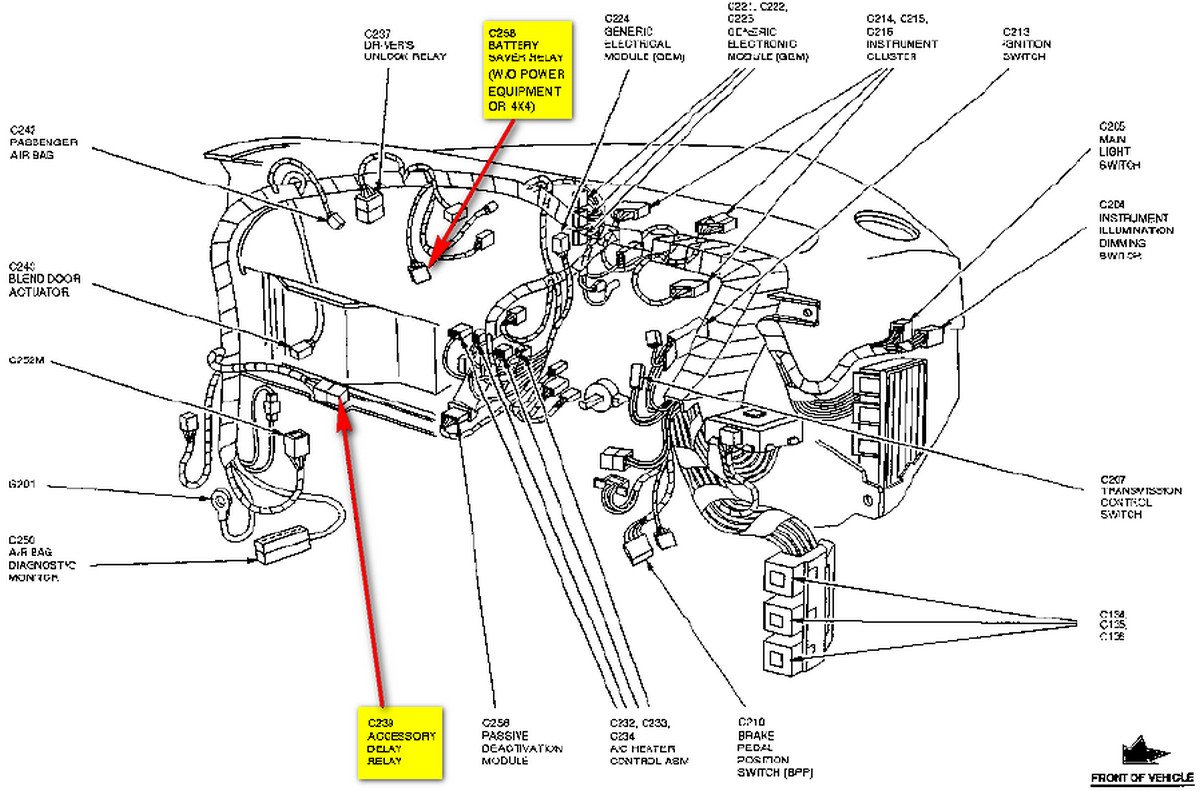 Aw 7698 Fuse Diagram Ford F 350 Flasher Relay Ford Ranger Fuse Box Diagram Schematic Wiring
