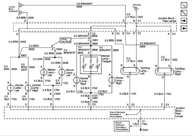 1999 Gmc Sierra Tail Light Wiring Diagram