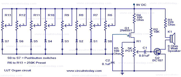 Astonishing Ujt Organ Circuit With Schematic And Working Wiring Cloud Ymoonsalvmohammedshrineorg