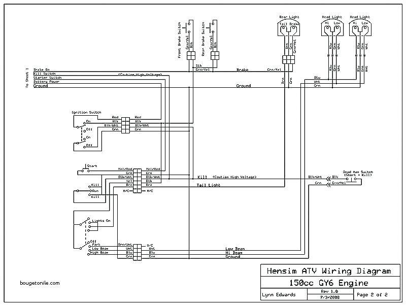hensim atv wiring diagram 150cc  schematic wiring diagram