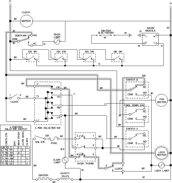 drop in oven wiring diagram - wiring diagram schematics wiring diagram for oven  wiring diagram schematics