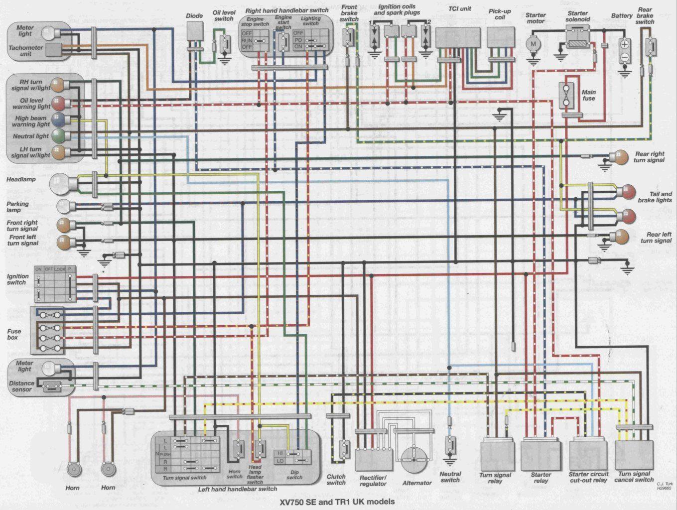 84 Virago 700 Wiring Diagram