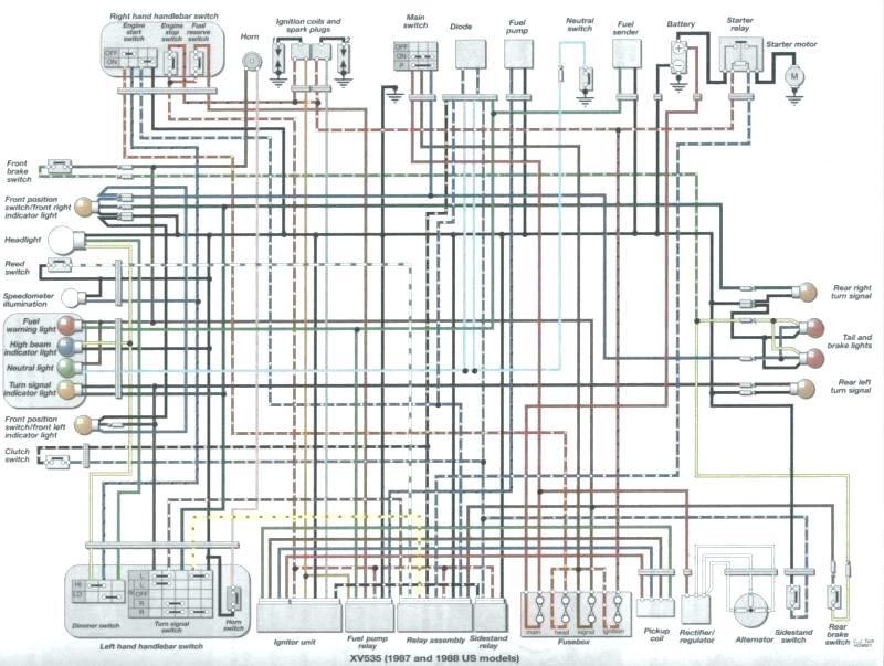 yamaha xv 535 wiring diagram  description wiring diagrams