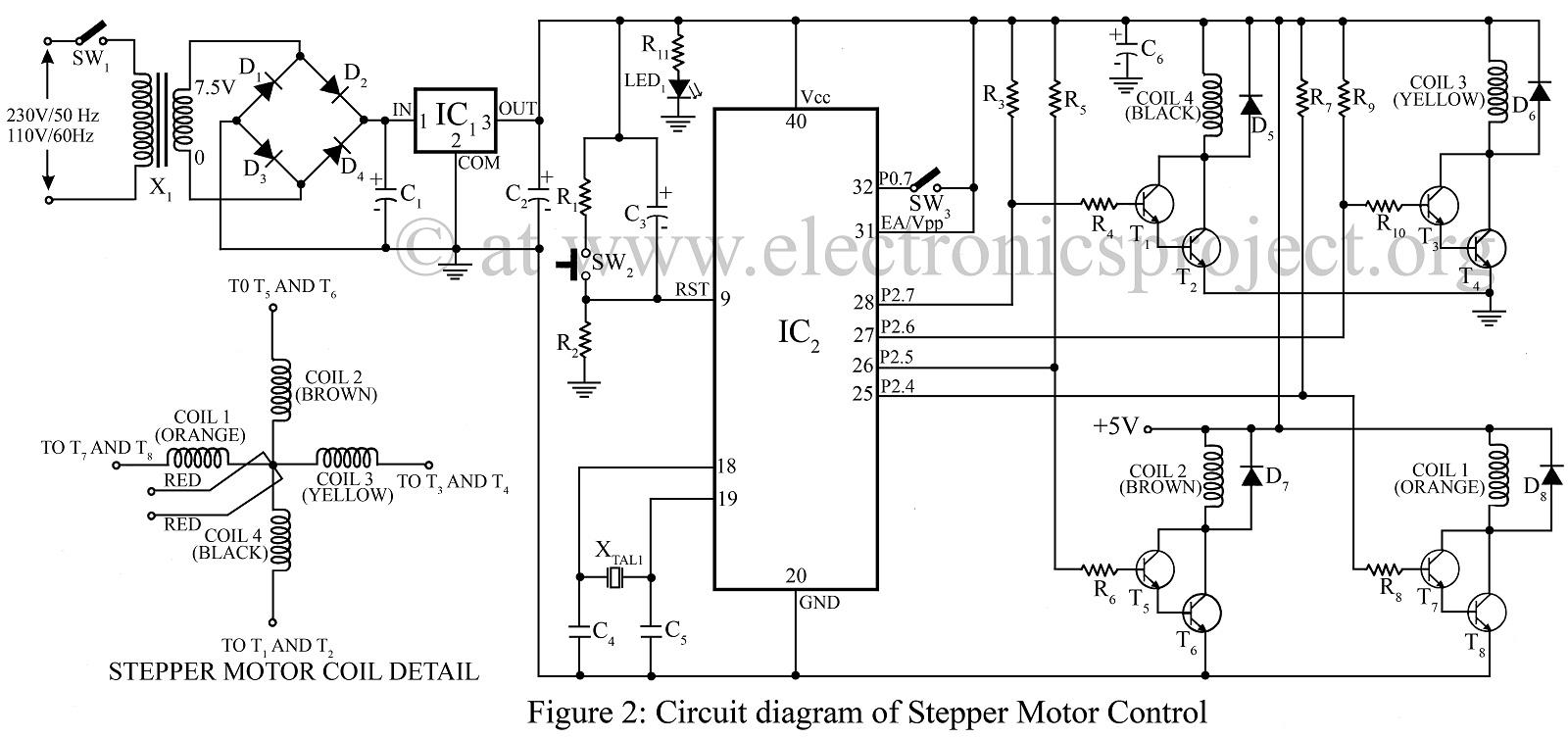 Enjoyable Stepper Motor Controller Circuit Schematic Basic Electronics Wiring Cloud Cranvenetmohammedshrineorg