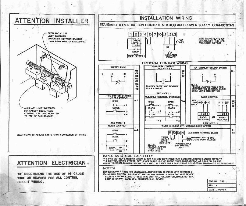 commercial garage door wiring schematic rw 0709  commercial garage door wiring diagram  commercial garage door wiring diagram