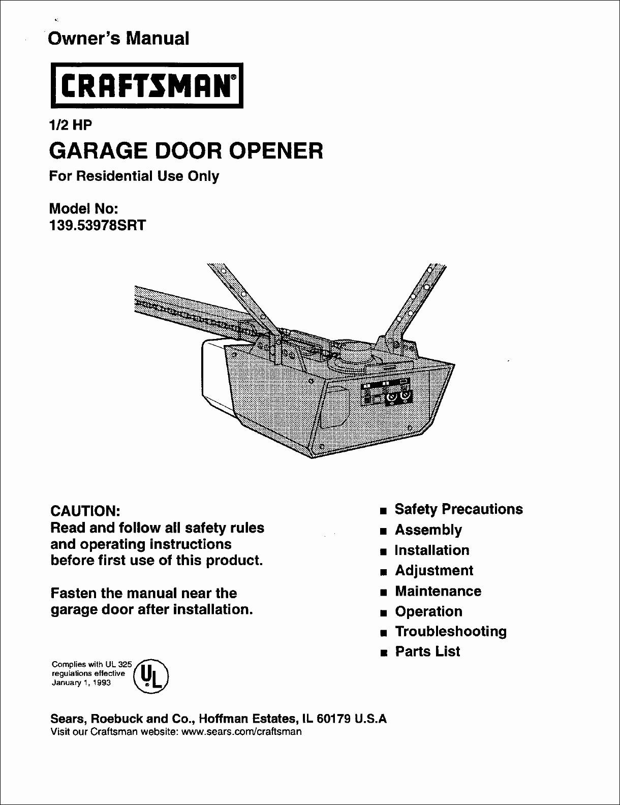 Swell Craftsman Garage Door Opener Wiring Diagram Valid Medium Size Sears Wiring Cloud Faunaidewilluminateatxorg