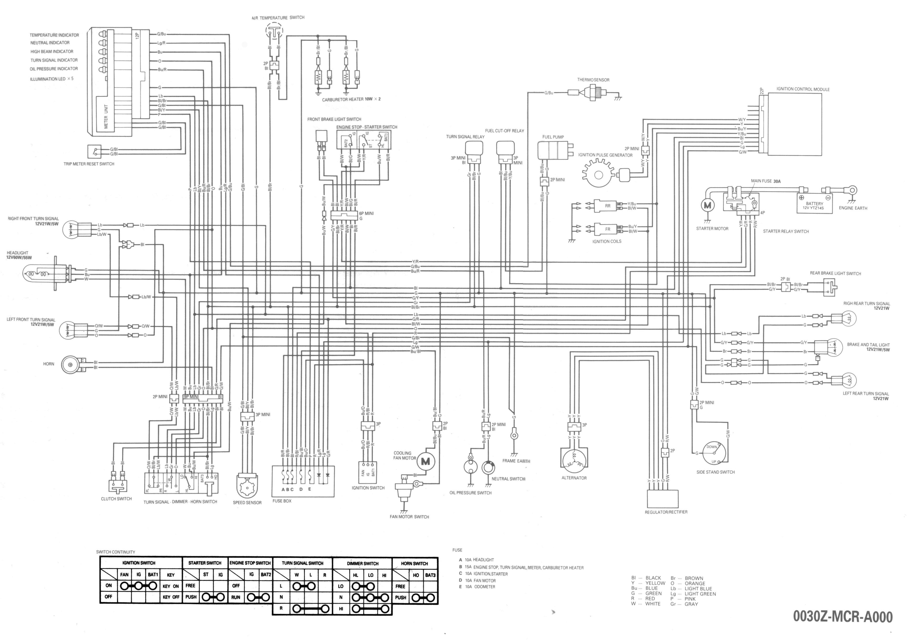 95 Honda Shadow Aero 750 Wiring Diagram