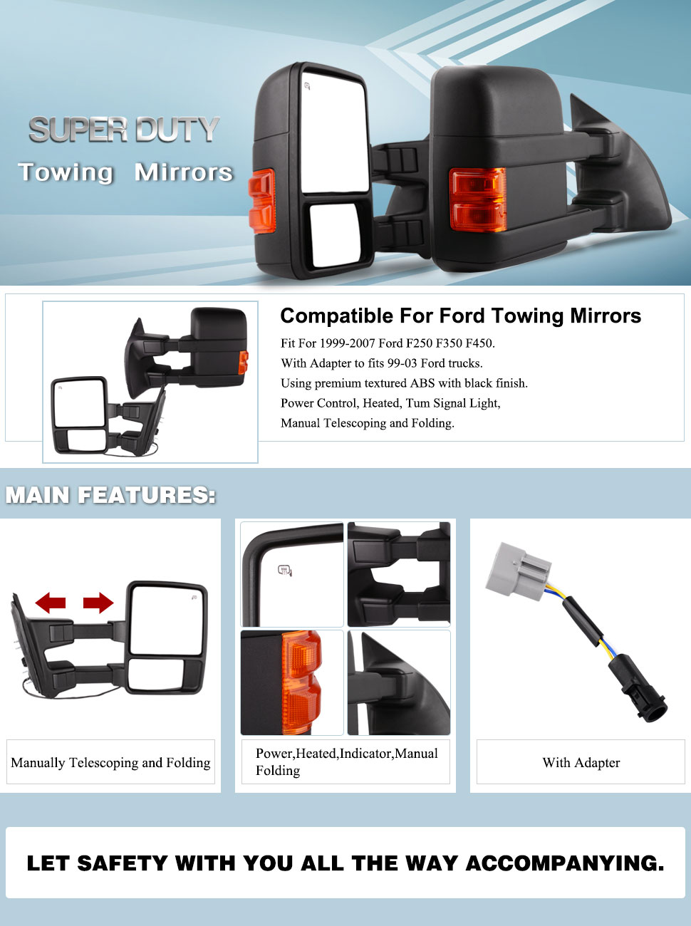 Wondrous Amazon Com Yitamotor Towing Mirrors Compatible For Ford 1999 2007 Wiring Cloud Timewinrebemohammedshrineorg