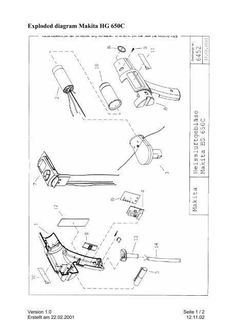 Makita Model 6404 Wiring Diagram