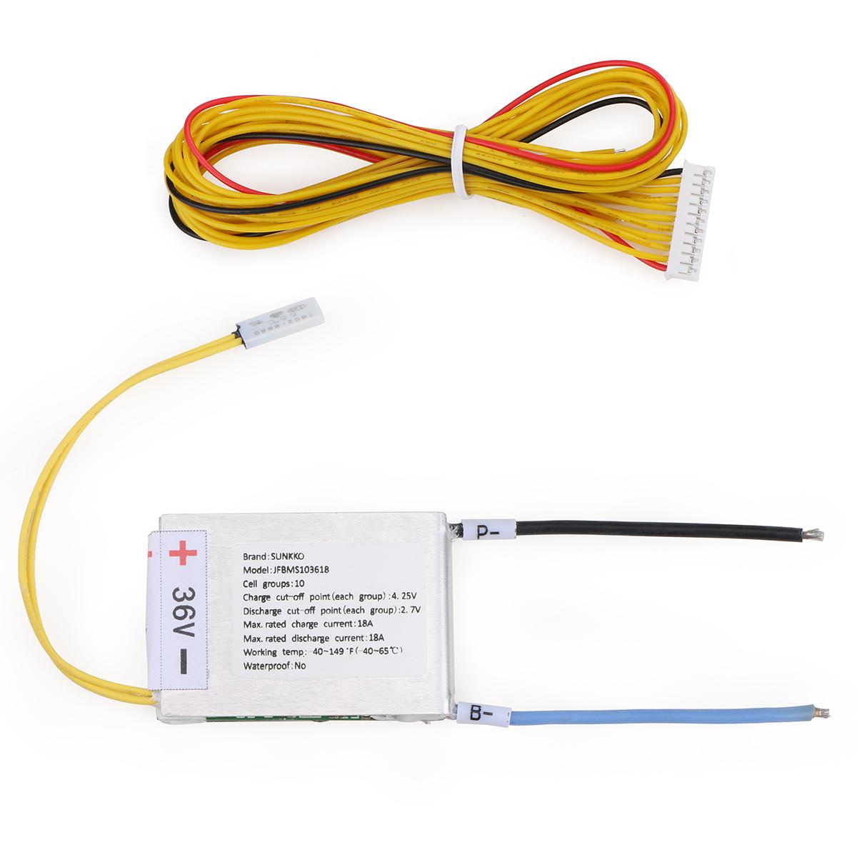Fantastic 36V 10S Battery Management System Bms Sunkko Wiring Cloud Lukepaidewilluminateatxorg
