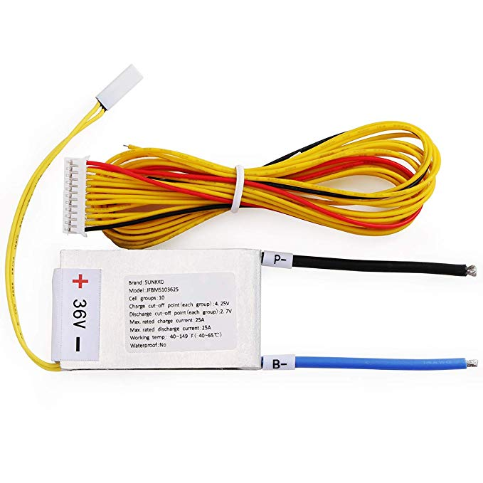 Magnificent Amazon Com 36V 10S Battery Management System Bms With 25A Change Wiring Cloud Lukepaidewilluminateatxorg