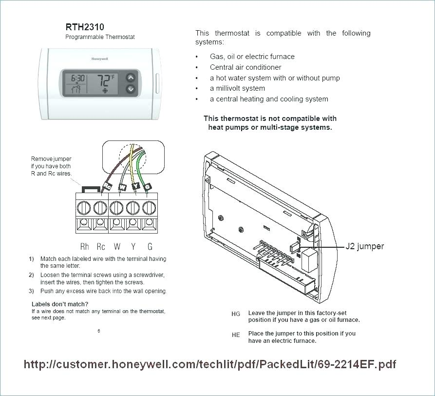 Wiring Diagram For Honeywell Thermostat Th5220d1003