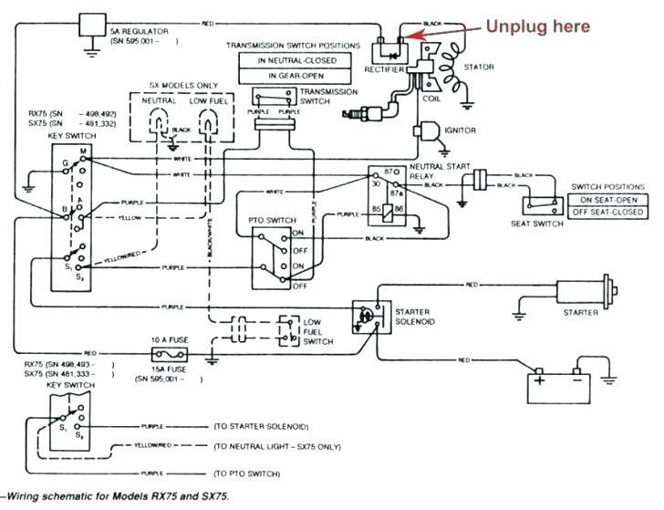 Af 4144  John Deere Rx75 Wiring Diagram Schematic Wiring