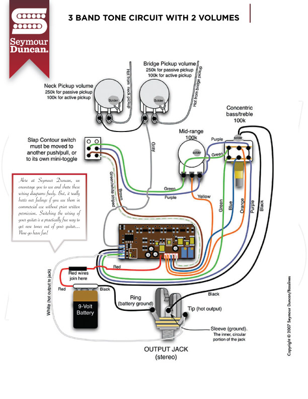 Seymour Duncan Active Wiring Diagram