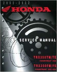 00-06 HONDA TRX350R4ES Clymer Service Manual