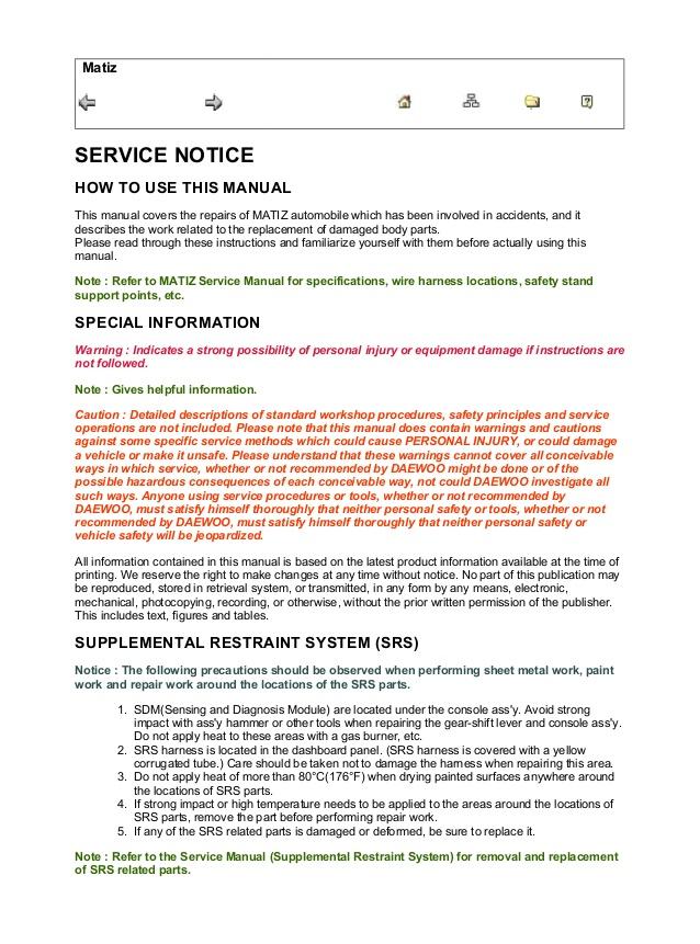 Cool 2002 Chevrolet Aveo Service Repair Manual Wiring Cloud Licukshollocom