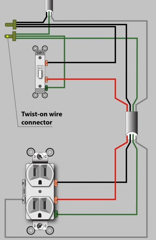 Awe Inspiring How To Wire An Outlet To A Switch Diagram Basic Electronics Wiring Wiring Cloud Licukosporaidewilluminateatxorg