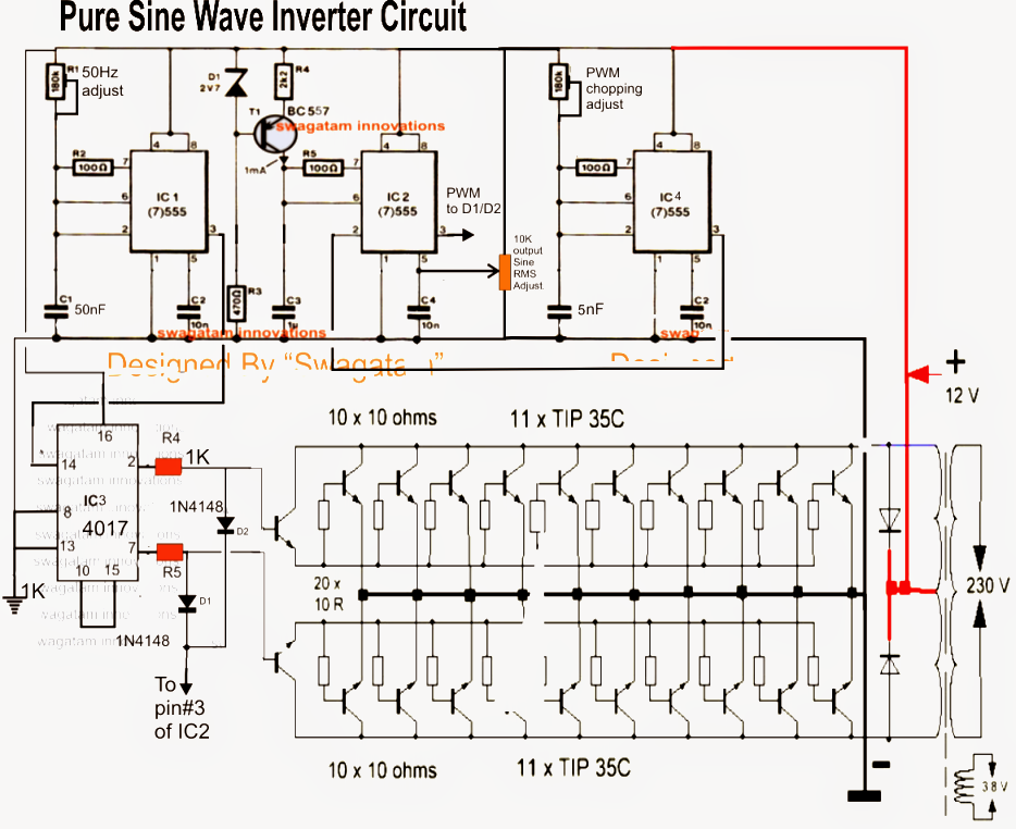 Cool The Post Explains A Simple 3Kva Modified Sine Wave Inverter Circuit Wiring Cloud Hisonepsysticxongrecoveryedborg