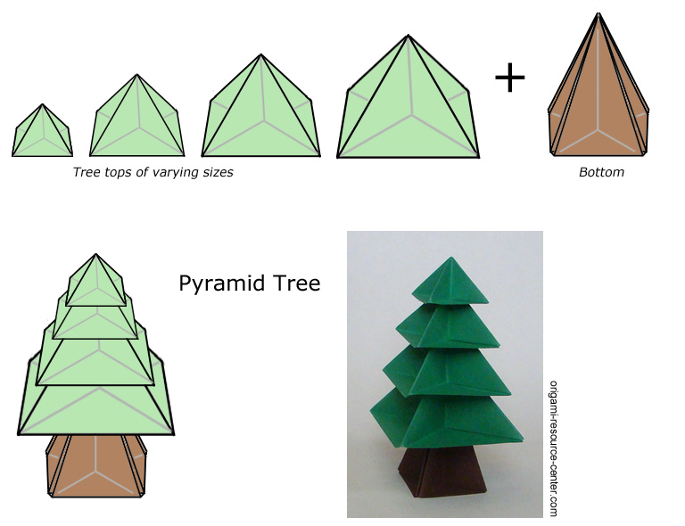 An Origami Christmas Tree - Learn How To Make It Yourself - Paper ... | 590x768