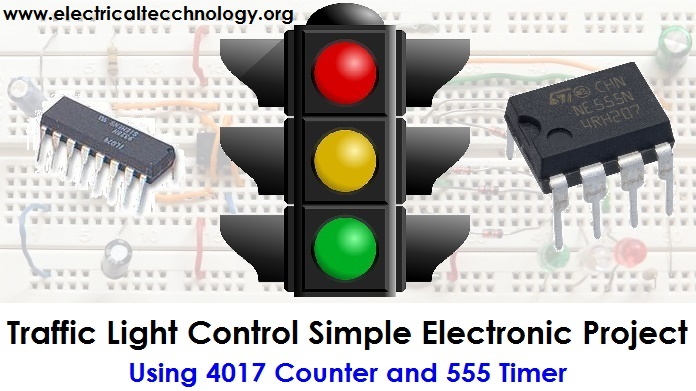 Brilliant Traffic Light Control Electronic Project Using 4017 555 Timer Wiring Cloud Overrenstrafr09Org