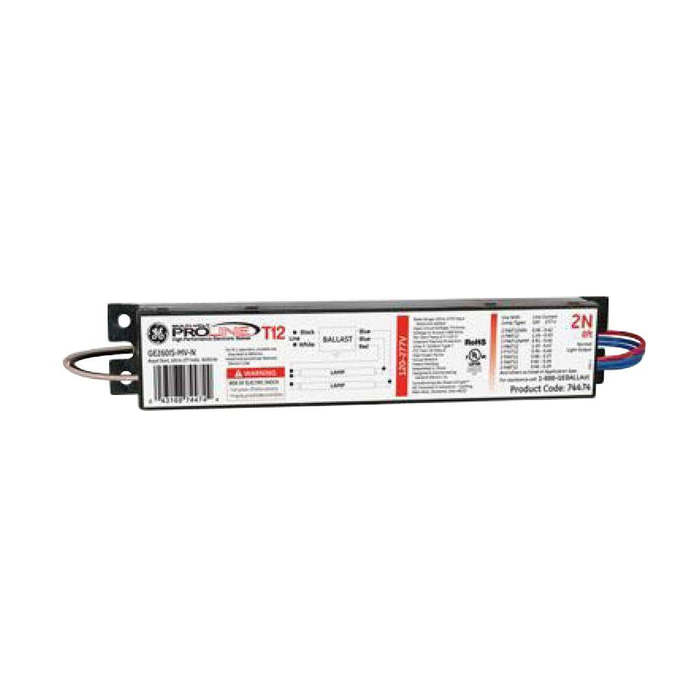 Admirable Ge 120 To 277 Volt Electronic Ballast For 8 Ft 2 Or 1 Lamp T12 Wiring Cloud Timewinrebemohammedshrineorg