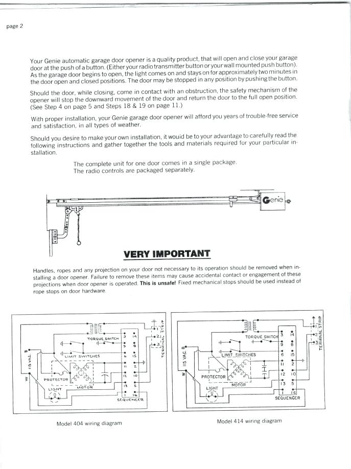 va6188 old genie garage door opener wiring diagram
