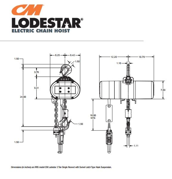 Ks 6085 Cm 2 Ton Electric Chain Hoist Wiring Diagram Wiring Diagram