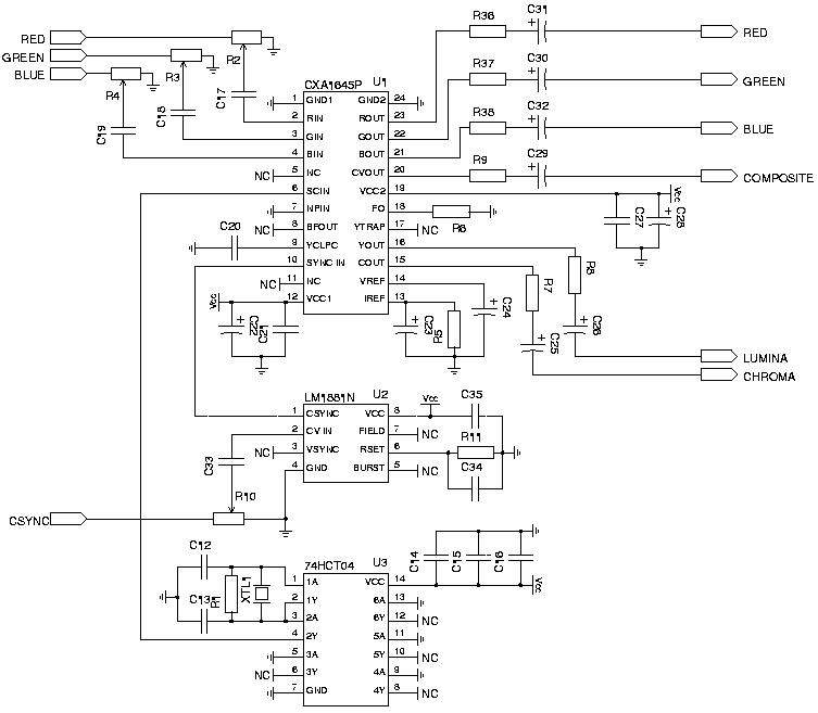 wiring diagram nexus te 3058  s video adapter to vga schematic  te 3058  s video adapter to vga schematic