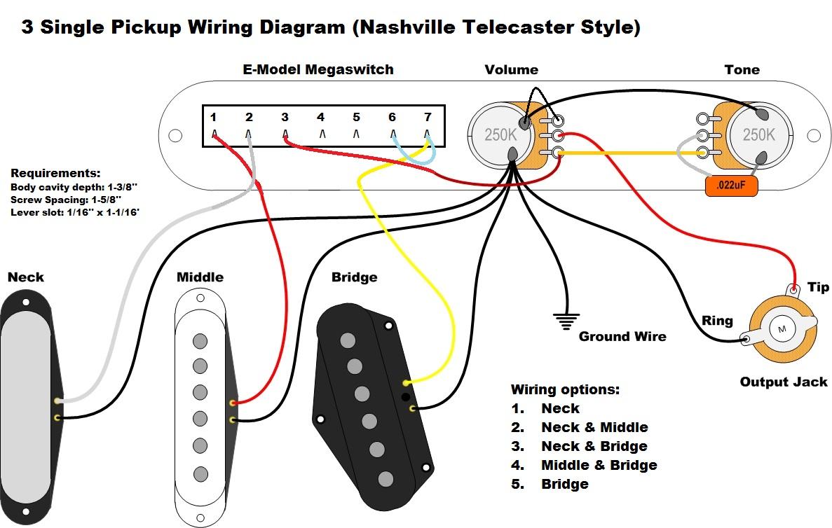 Pleasing 3 Pickup Guitar Wiring Diagram Wiring Diagram Library Wiring Cloud Gufailluminateatxorg