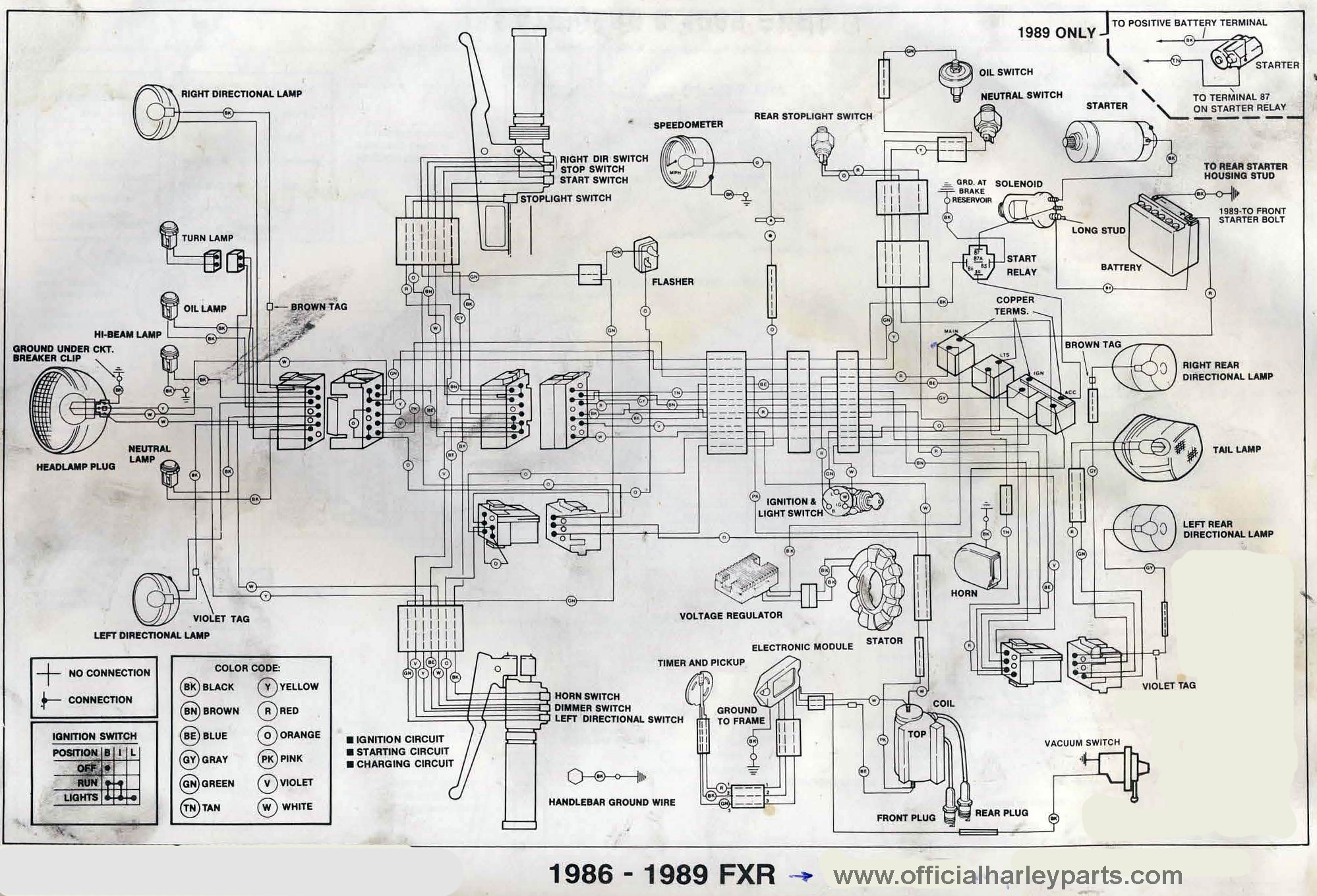 1993 Fxr Wiring Diagram