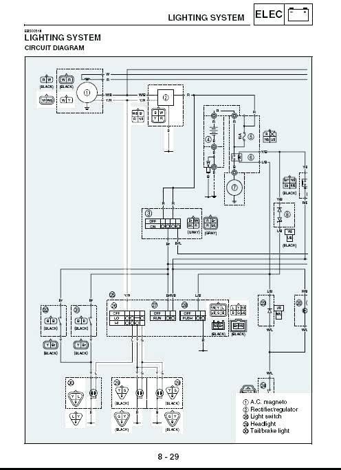 2001 Yamaha Breeze 125 Wiring Diagram