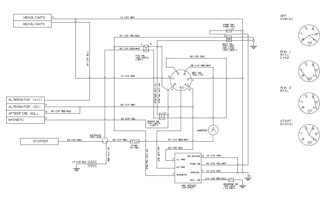 Murray Lawn Tractor Wiring Schematic - Wiring Diagram
