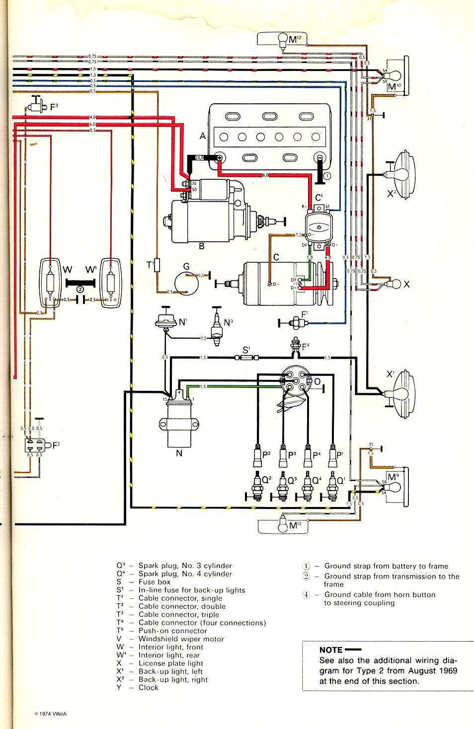 Ok 3367 Vw Bus Fuse Box Diagram 1963 Bus Wiring Diagram