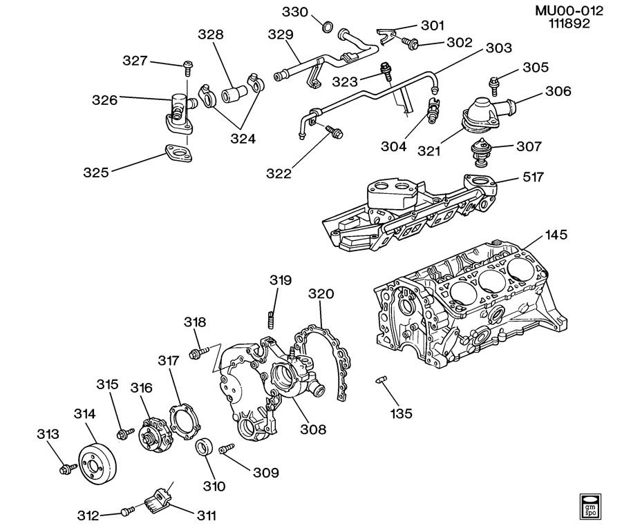 Ak 4781  Chevrolet Lumina Ls 3 1 V6 Gas Wiring Diagram