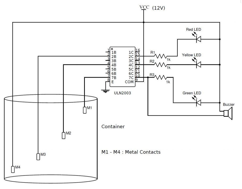 Fine Simple Water Level Indicator With Alarm 3 Tested Circuits De Wiring Cloud Licukshollocom