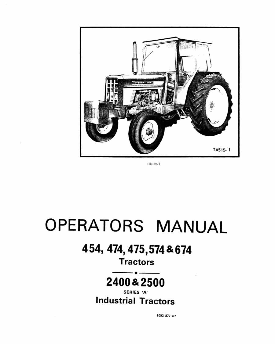 International Harvester B414 Wiring Diagram