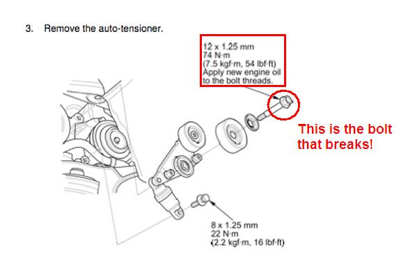 2007 Honda Odyssey Serpentine Belt Tensioner - Latest Cars