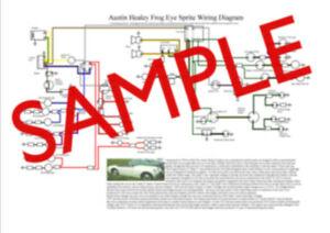 Brilliant Austin Healey Frogeye Or Mk 2 Sprite A3 Laminated Colour Wiring Wiring Cloud Rometaidewilluminateatxorg