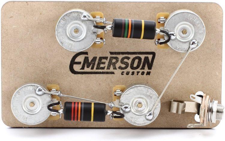 Superb Emerson Custom Prewired Kit For Gibson Les Paul Guitars Long Shaft Wiring Cloud Rometaidewilluminateatxorg