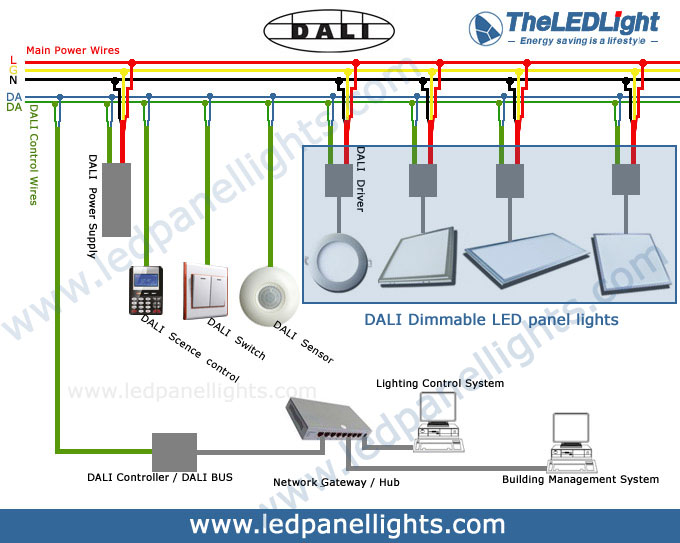 building management system wiring diagram mn 3040  designing wired lighting control networks to dali  designing wired lighting control